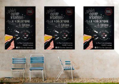Affiche du lancement du Bar Restaurant Chai les Jumeaux