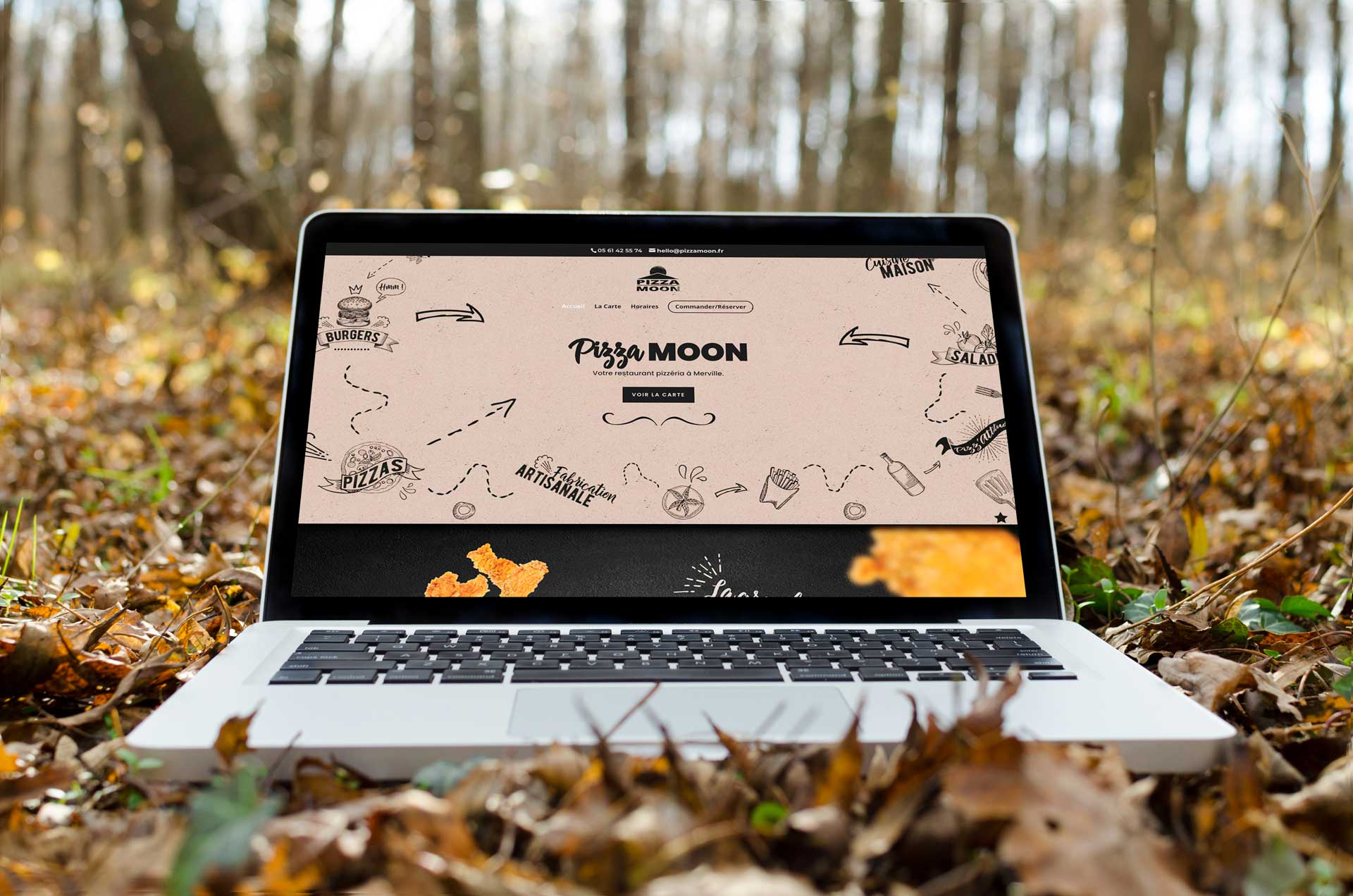 Site Web Pizza Moon
